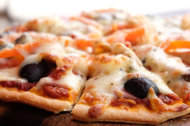 Gros plan de pizza
