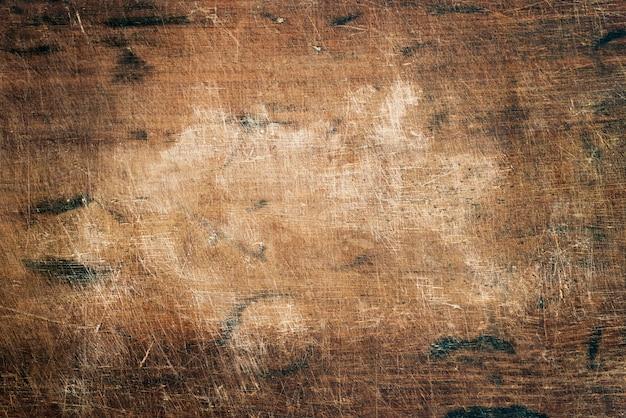 Gros plan d'une planche de bois rustique
