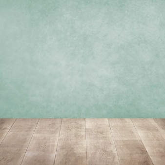 Gros Plan Sur Un Plancher En Bois Et Un Mur Coloré Photo gratuit