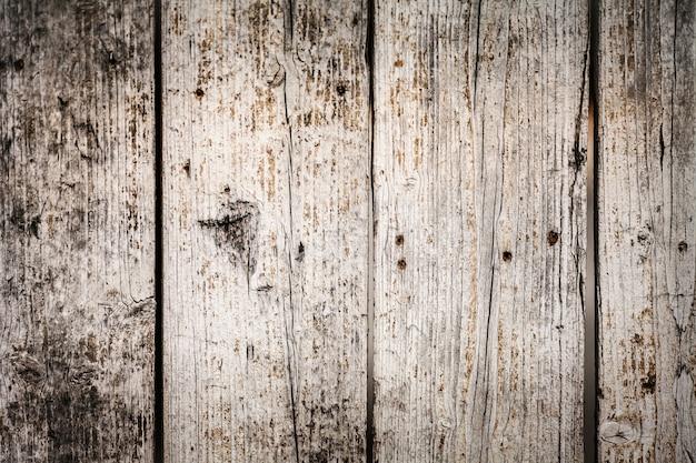 Gros plan de planches blanches en bois
