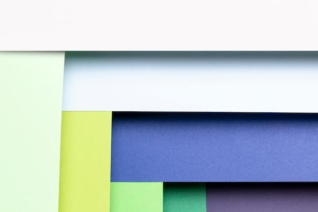 Gros plan plat poser coloré