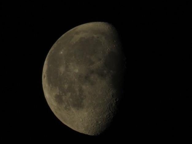 Gros plan de la pleine lune