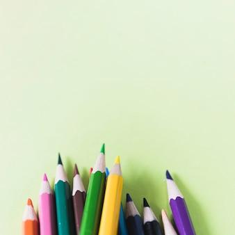 Gros plan, pointu, crayons