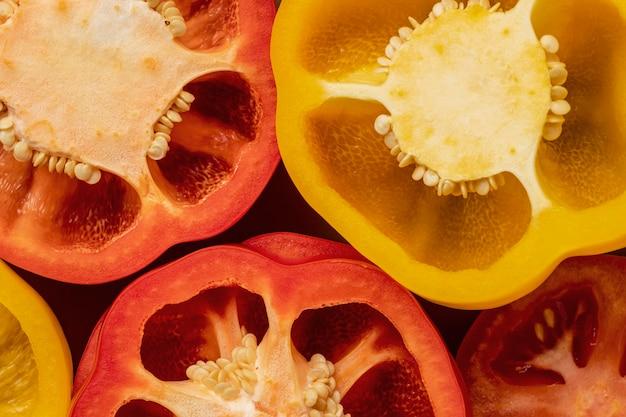 Gros plan, de, poivrons