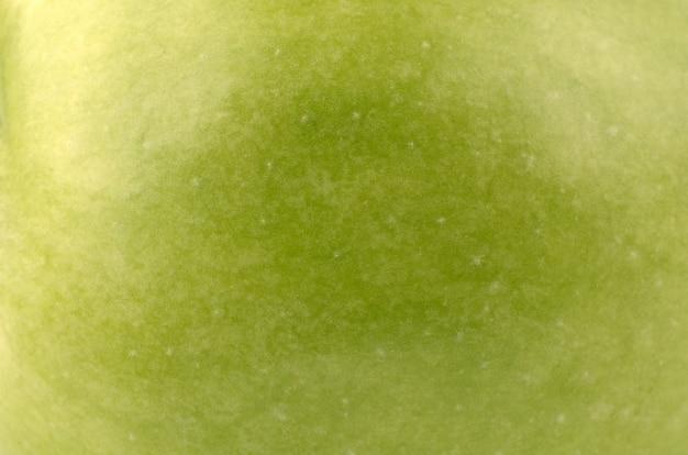 Gros plan de pomme verte
