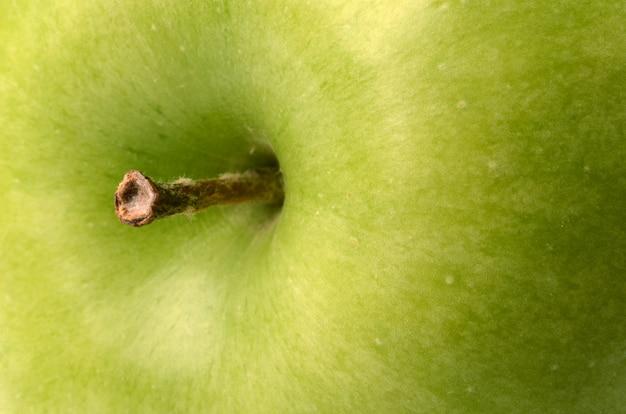 Gros Plan De Pomme Verte Photo Premium