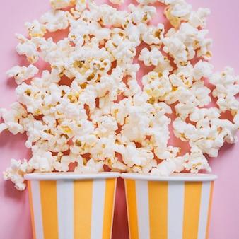 Gros plan, popcorn