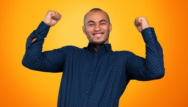 Gros plan, portrait, de, homme affaires, confiant, afro-américain