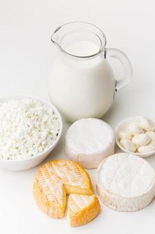 Gros plan des produits laitiers