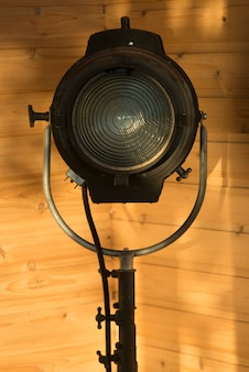 Gros plan d'un projecteur, kenora, lac des bois, ontario, canada