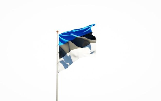 Gros plan sur le rendu du drapeau national isolé