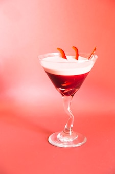 Gros plan, rouge, cocktail, martini, verre