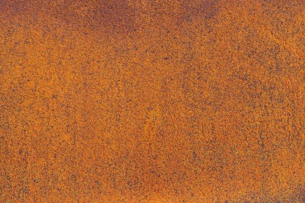 Gros plan sur la rouille sur une surface métallique