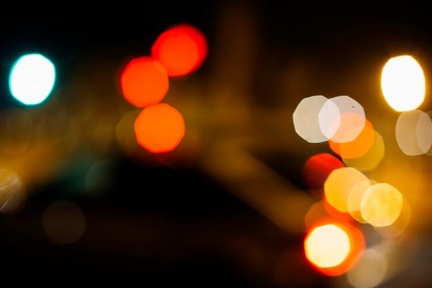 Gros plan, rue, lumières