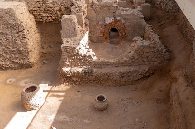 Gros plan des ruines du grec ancien