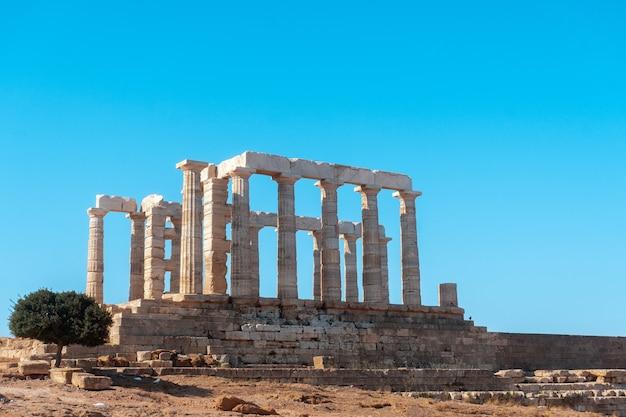 Gros plan des ruines grecques antiques