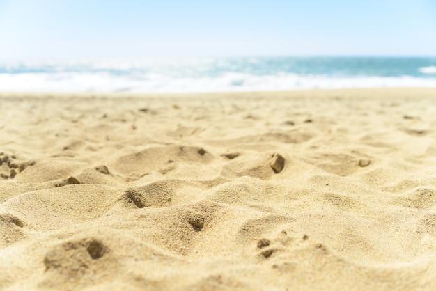 Gros plan de sable sur la plage
