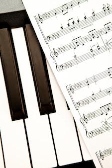 Gros plan d'un score de musique