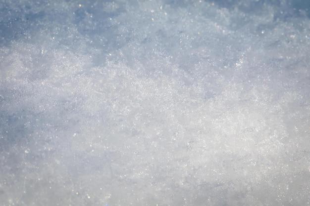 Gros plan, de, snowdrift