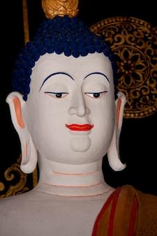 Gros plan, statue, bouddha, wat, chedi, luang, chiang mai, thaïlande