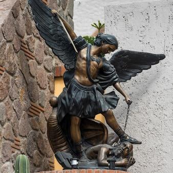 Gros plan, de, statue, zona, centre, san, miguel, allende, guanajuato, mexique