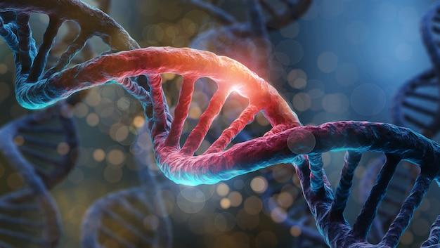 Gros plan de la structure de l'adn helix