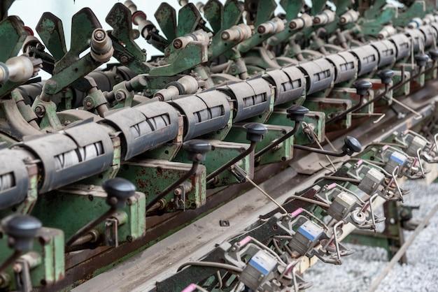 Gros plan de la structure de machines textiles déchets