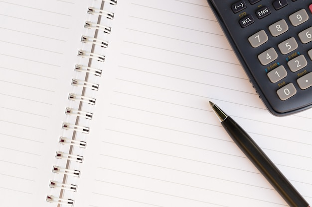 Gros plan, stylo, cahier