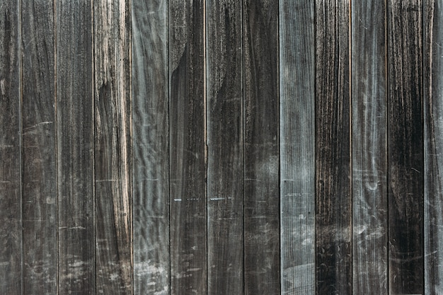 Gros plan d'une surface en bois sombre