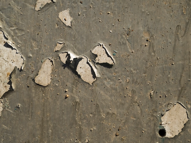 Gros plan de la surface du mur rayé