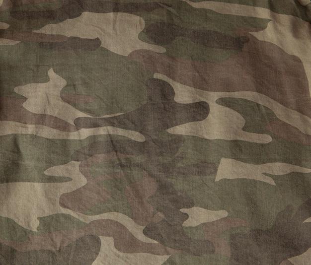 Gros plan de la surface de l'uniforme militaire