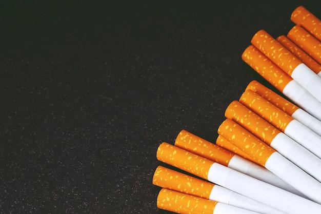 Gros plan, de, tabac, cigarettes, fond, ou, texture