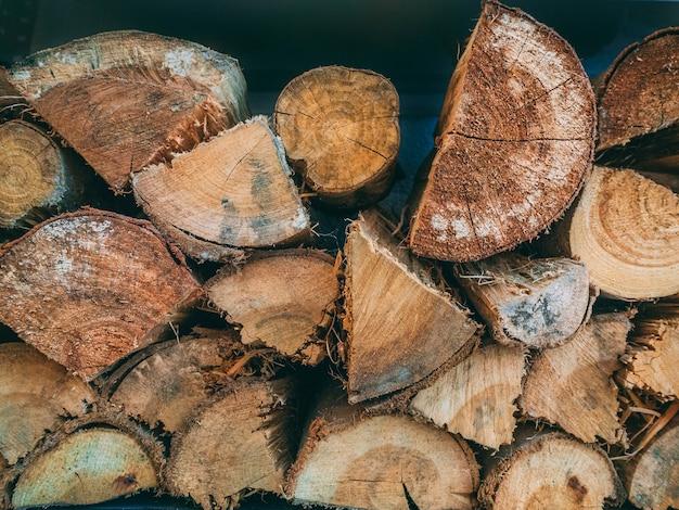Gros plan d'un tas de bois - parfait pour le fond