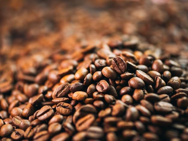 Gros plan, tas, café, torréfié