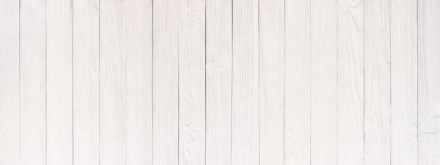 Gros plan de texture bois blanc, fond d'une surface de table en bois, panorama