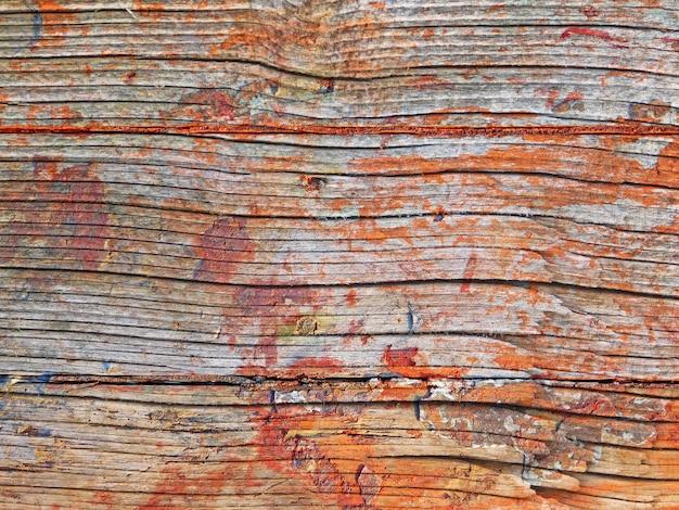 Gros plan de la texture en bois à l'extérieur