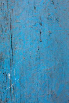 Gros plan de la texture en bois minable bleu