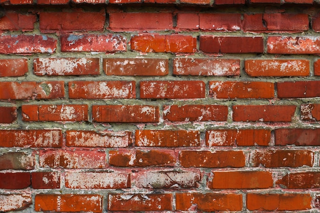 Gros plan de texture de brique rouge