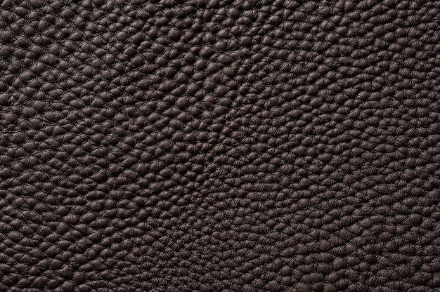 Gros plan de la texture de cuir marron transparente pour le fond