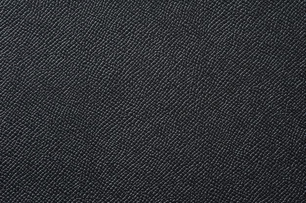 Gros plan de la texture en cuir noir sans soudure pour le fond