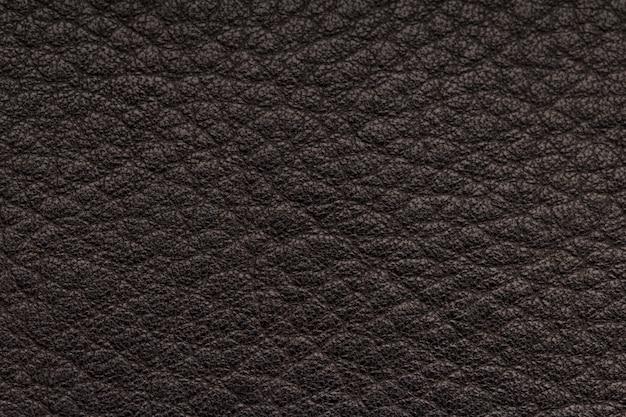 Gros plan de la texture de cuir noir transparente