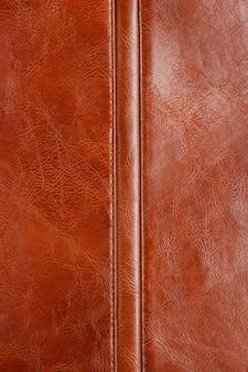 Gros plan de la texture du cuir marron naturel