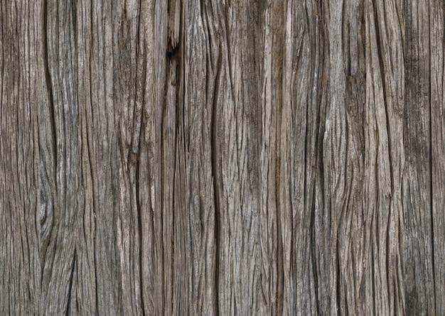 Gros plan de la texture du fond de la surface du bois fissuré âgé âgé âgé.
