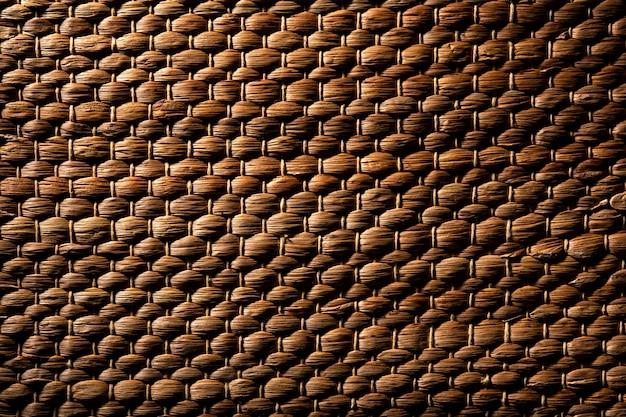 Gros plan de la texture du panier en osier
