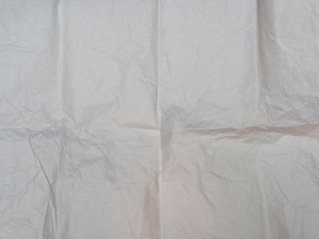 Gros plan de la texture du papier froissé