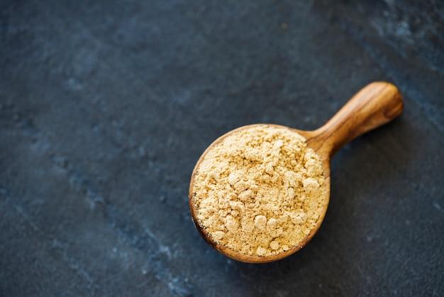 Gros plan de la texture du pouvoir des épices