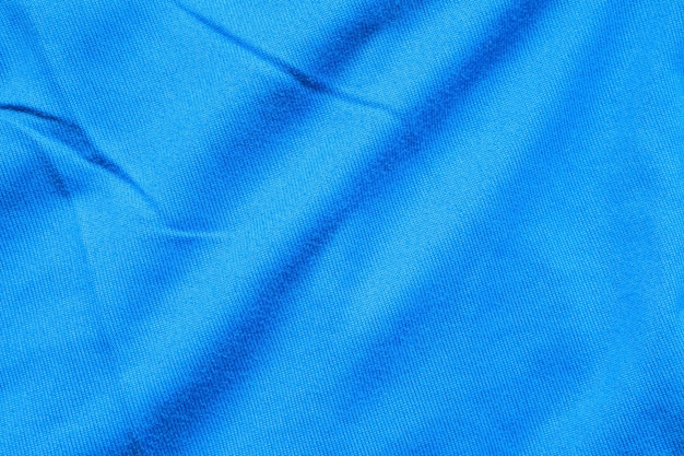 Gros plan de la texture du tissu bleu