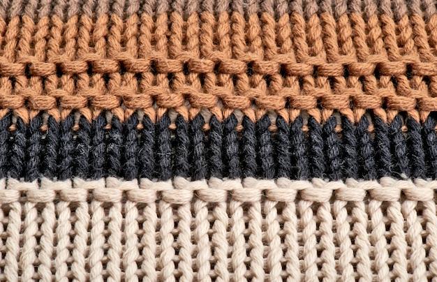 Gros plan sur la texture en laine