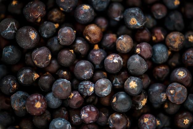 Gros plan de la texture de poivre noir