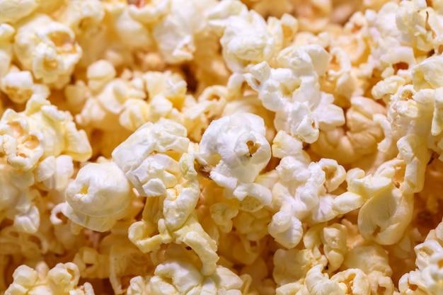 Gros plan de la texture de pop-corn